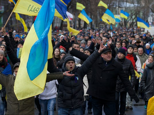 AP Ukraine Protest