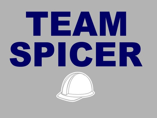 Team Spicer logo for fundraiser T-shirts to help with