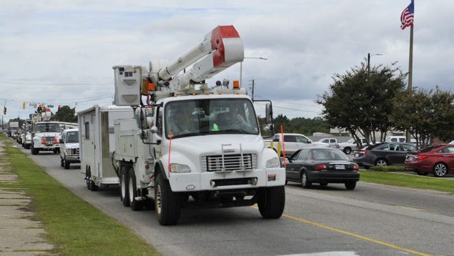 Mississippi Power and several other crews are helping with restoration after storms in Alabama.