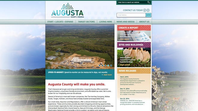 New website has gone live for Augusta County Economic Development.
