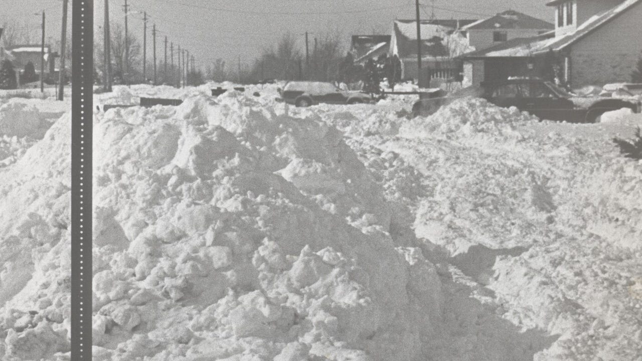 The Blizzard of 1978, which hit Indiana, Illinois and Ohio, left Indianapolis buried under more than 20 inches of snow.