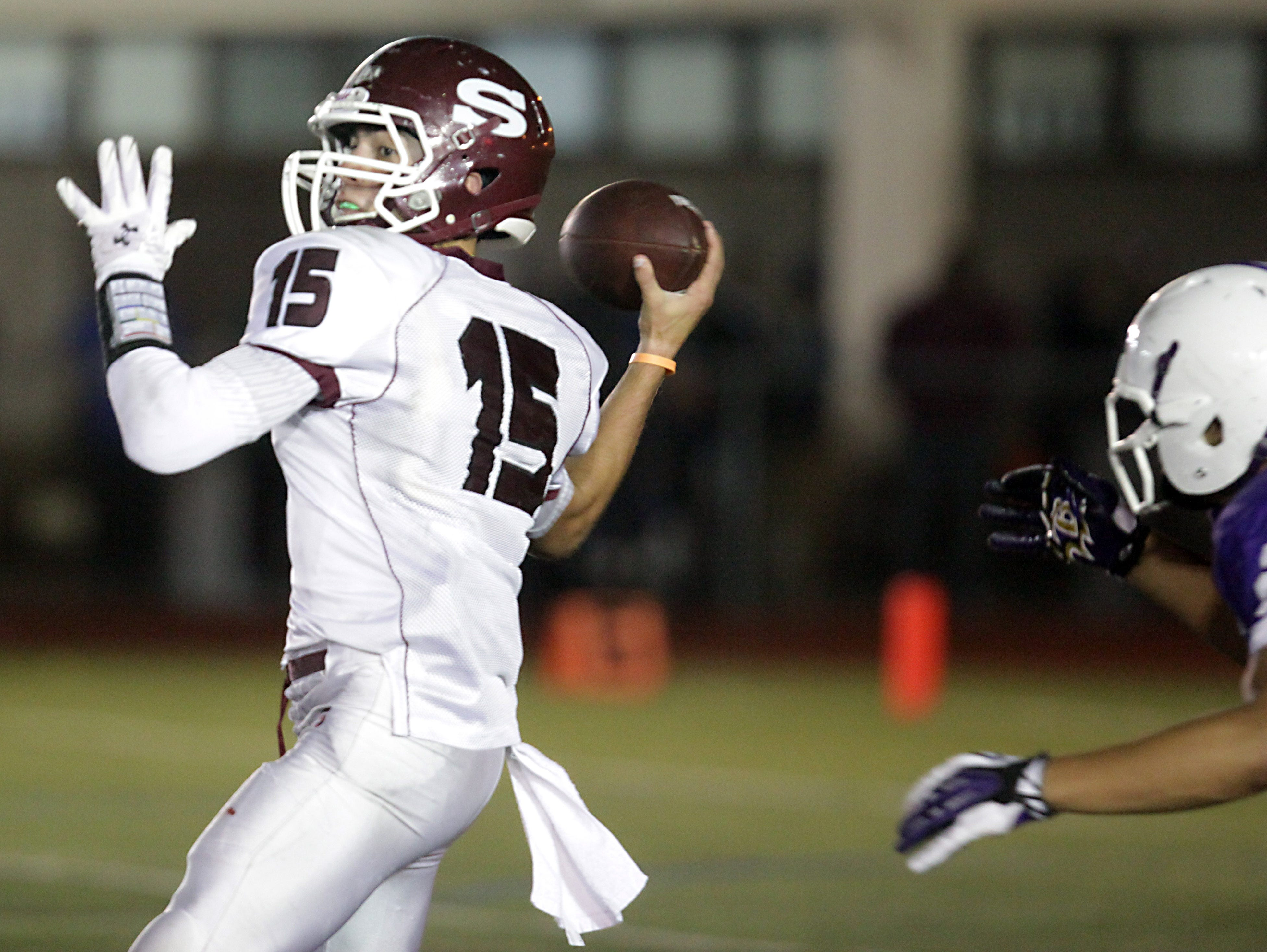 Scarsdale's quarterback Michael Rolfe has been a key to the Raiders' fortunes.