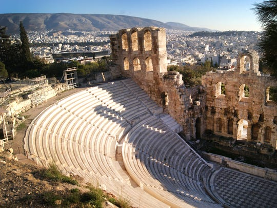 In this Dec. 11, 2016, photo, the Odeon of Herodes