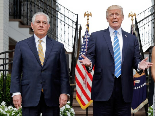 President Trump and Secretary of State Rex Tillerson
