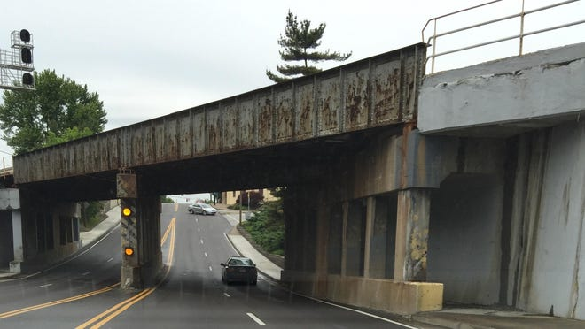 One of the biggest projects scheduled in Erlanger's upcoming budget, City Administrator Marc Fields said, is painting of the Norfolk Southern bridge overpass on Dixie Highway.