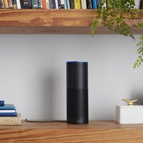 """Amazon's cloud-connected devices, from left, Tap, Fire TV, Echo and Echo Dot, listen for the wake word """"Alexa"""" to access a digital personal assistant to dish up the info you want in a human-like voice."""