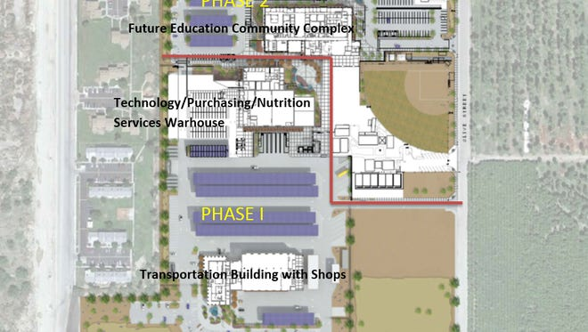 The Coachella Valley Unified School District Community Education Support Complex will be built in two phases. The project is projected to cost $60 million.