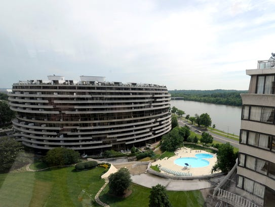 A view of the Watergate complex from the top floor