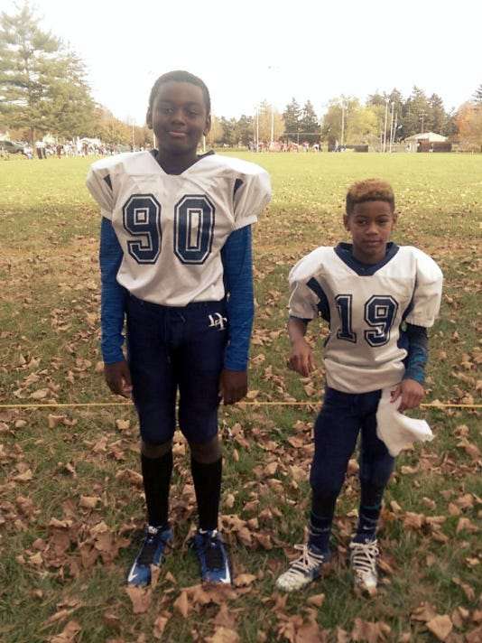 Darien Mayo, left, and Colin Douglas, have both been named Offense-Defense All-Americans. The two 10-year-old Yorkers have been invited to compete in the 10th annual Offense-Defense Bowl Week festivities in Daytona Beach, Florida.