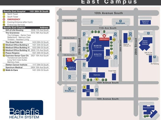 May of Benefis East campus with new names for the campus