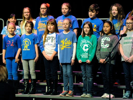 The Cairo and Spottsville Elementary Ensemble, of Henderson,