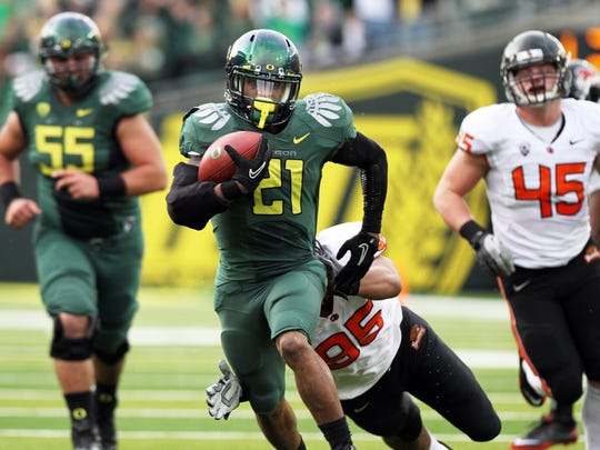 Oregon running back LaMichael James.