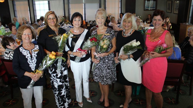 New Woman's Club officers are corresponding secretary Sue Ellen Welch, treasurer Debbie Rago, president Penny Weidner, assistant treasurer Joyce Frame, vice president Jackie Pierce and recording secretary Ann Marchetti.
