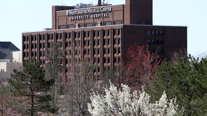 Westchester Medical Center in Valhalla, shown in this file photo, had $447 million of bonds downgraded from Aa3 to Baa1 by Moody's Investors Service.
