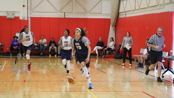 FGCU's Whitney Knight brings up the ball during U.S. Junior National Team Trials Thursday-Saturday in Colorado Springs, Colo.