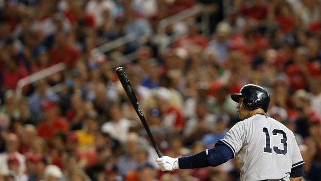 "Alex Rodriguez bats against the Washington Nationals at Nationals Park on May 19. Yankees owner Hal Steinbrenner says Rodriguez has been ""a great asset"" this season."