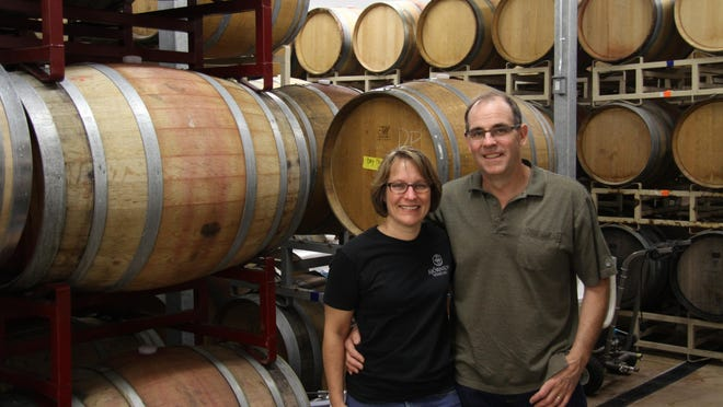 Pattie and Mark Bjornson began construction on their winery in 2013 and got occupancy in the wine-making area of the facility five days before the grapes came in the door in 2014.