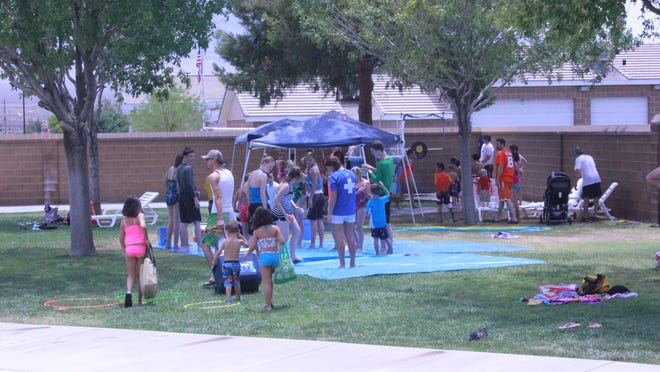 Families enjoy events at the Mesquite Recreation Center.