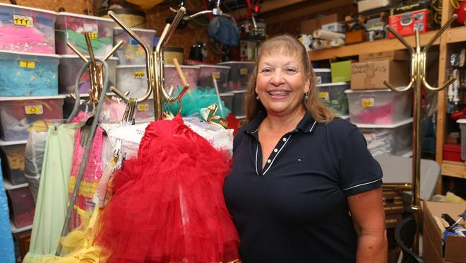 Debbie Claus Moore has a garage full of dance costumes since closing her business last month, The Springfield School of Dance. Moore has retired after teaching dance in Springfield for 40 years.