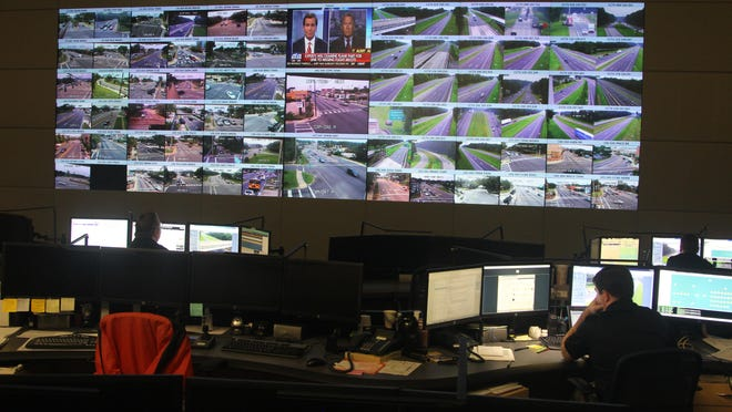 Traffic along I-10 and in Tallahassee is monitored using high definition cameras at the Public Safety Complex. Mayor Andrew Gillum would like to see the cameras be used to fight crime in Tallahassee.