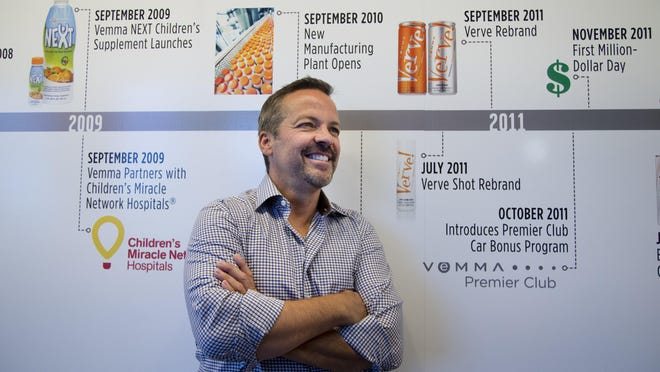Founder and CEO Benson K. Boreyko, at the Tempe, Arizona offices of Vemma Nutrition Co., before federal regulators moved to at least temporarily shut it down.
