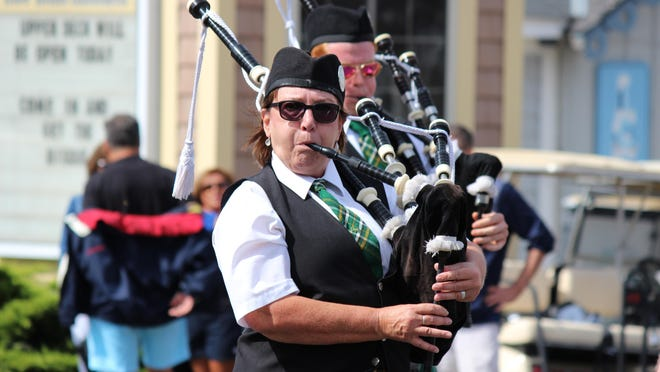 The West Side Irish American Club Pipe Band performed throughout Halfway to St. Patty's Day, sponsored by Hooligan's.