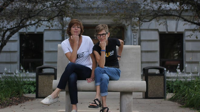 Bloomington women (from left) Rebecca Walter and Tracy Gates are the founders of a rapidly growing energy bar company, UGo Bars.