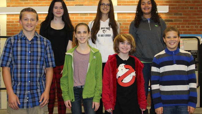 "Front row, left to right: Austin Stroup, Aelis Spiller, Haley Mineti, Leandrew ""NJ"" Wingo Back row, left to right: Grace Crowe, Giuliana Lincoln, Mikayla Zarr. photos provided by BCSD"