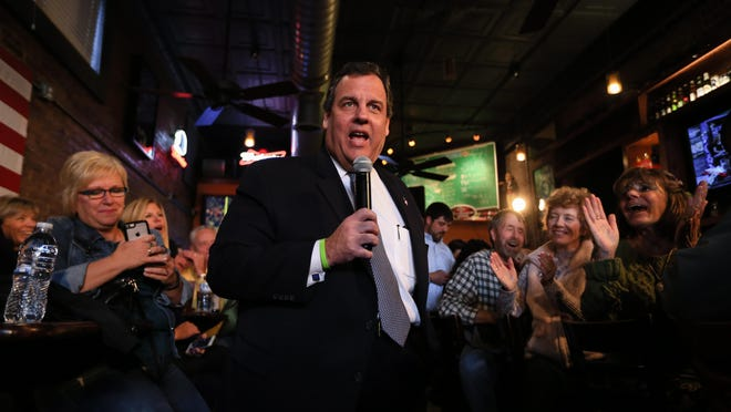Republican presidential candidate, New Jersey Gov. Chris Christie, R-N.J., speaks during a campaign event at the Glory Days Sports Bar and Grill in Council Bluffs, Iowa, Friday, Oct. 30, 2015. (AP Photo/Nati Harnik)