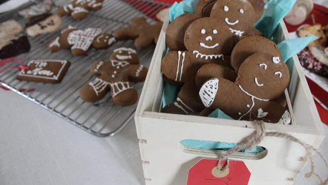 The smell of gingerbread in the oven is reminiscent of holidays past, of those days gazing at the tree lights and presents, waiting for Christmas morning.