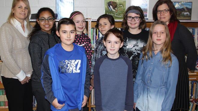 Photo caption: Front row: Caleb Christiansen, Josh Sidebotham, Eileena Frey; back row: Natalie McCue, Olivia Caleb, Emma Hopsicker, Lillian LaShomb, Audrey Archer, Julie Wilson. provided photo