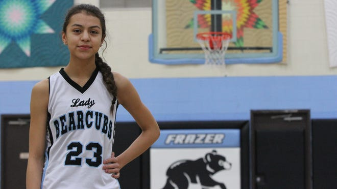Mya Fourstar is one of 217 eighth-graders playing high school sports for Montana High School Association schools. But she's not just playing, she's starring.