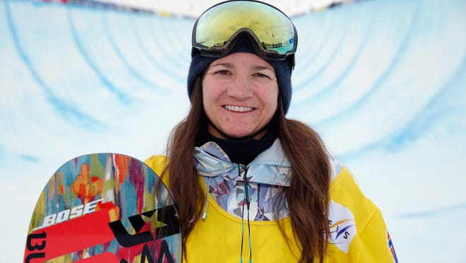 Kelly Clark of West Dover, Vt., is the most decorated female snowboarder in the sport's history, with podium finishes in halfpipe in three straight Olympic Games and five X Games gold medals, including four straight from 2011-2014. GETTY IMAGES FILE