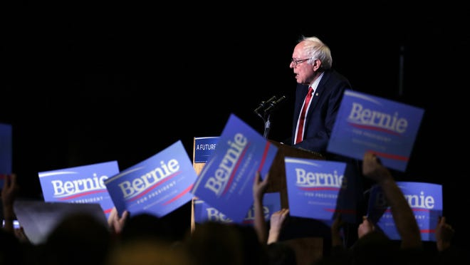Democratic presidential candidate, Sen. Bernie Sanders, I-Vt., speaks during a rally Friday, Feb. 19, 2016, in Reno, Nev.