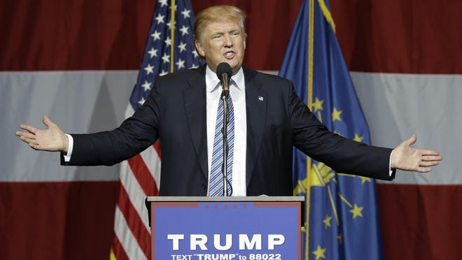 Republican presidential candidate Donald Trump speaks at a rally in Westfield, Ind., Tuesday, July 12, 2016.