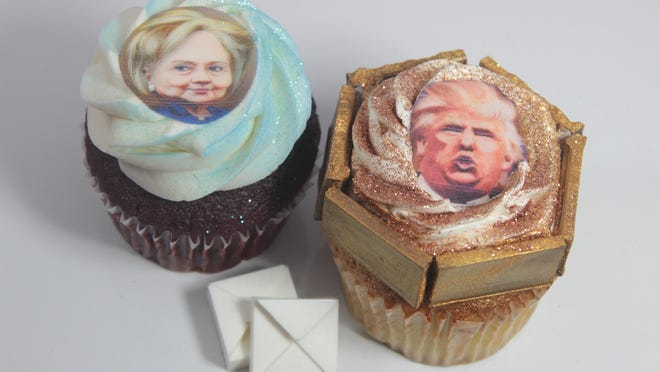 Ava's Cupcakes in Rockaway will offer treats inspired by Hilary Clinton and Donald Trump this season.