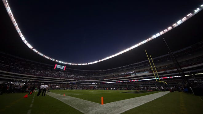 MEXICO CITY, MEXICO - NOVEMBER 21:   A general view of the field prior to the game between the Houston Texans and Oakland Raiders at Estadio Azteca on November 21, 2016 in Mexico City, Mexico.  (Photo by Buda Mendes/Getty Images) ORG XMIT: 663933865 ORIG FILE ID: 624994444