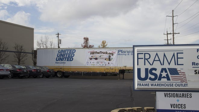 Frame USA hopes to fill this semi truck with donations for local charities as part of the Springdale company's annual Fill The Truck campaign.