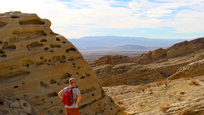 The Calcite Mine Hike offers a chance to explore a visually dynamic area of Anza-Borrego Desert State Park well-known for its geologic activity and leads to World War II-era optical calcite mine.