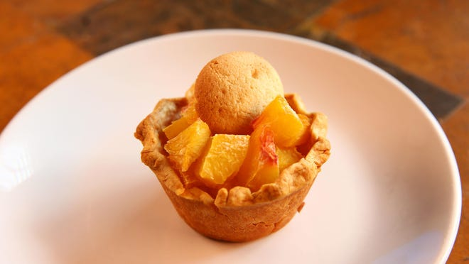 Individual Fruit Pies: Peach Pies with Vanilla Wafers from Robin Miller's kitchen on Jan. 5, 2017 in Scottsdale, Arizona.