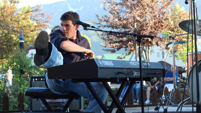 Brady Goss will bring piano pop rock to Keizer Rotary Amphitheater at Keizer Rapids Park for a night of free music 6:30 p.m. Saturday.