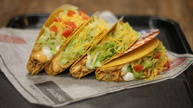 The spicy chicken Doritos Locos taco.