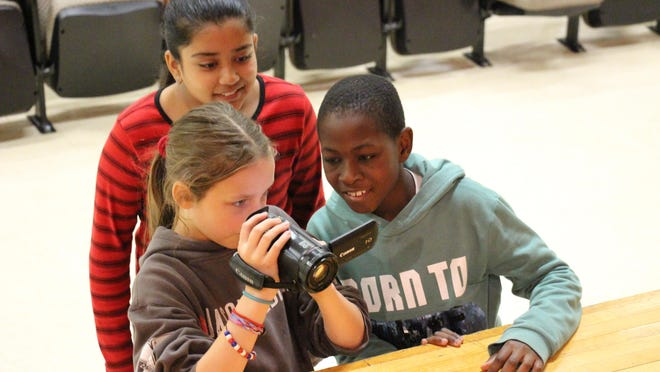 CVMS students volunteered to be part of Sandy Hook Promise Student Voices and Start With Hello video project. Many learned new skills like how to use a video camera.