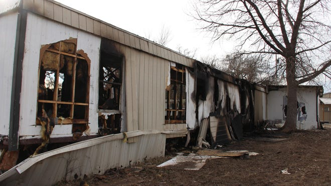 The trailer home, located off of Rolling Hills Rd. in Lone Grove, is being considered a total loss after a fire, believed to be arson, destroyed the building Tuesday.