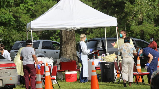 A free drive- through community COVID-19 testing site was available June 26 at St. Stephen AME Church in Hardeeville.