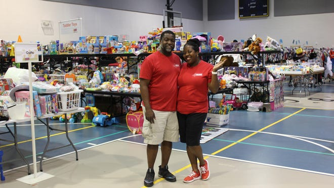 Brandon and Samone Gibson will host their third Just Between Friends kids consignment event this weekend at the Burns Road Community Center in Palm Beach Gardens. More than 60,000 maternity, baby and children's items will be for sale.