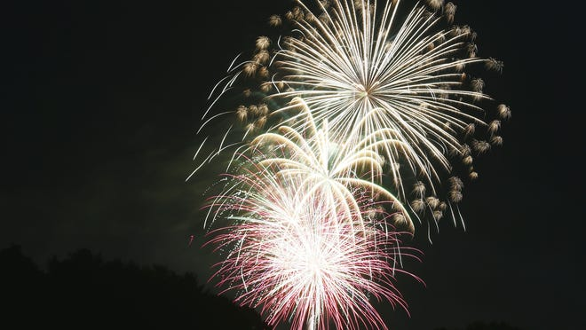Due to the need for social distancing, the Rotary Club of Ashland included 5-inch shells in this year's annual Fourth of July fireworks display Saturday.