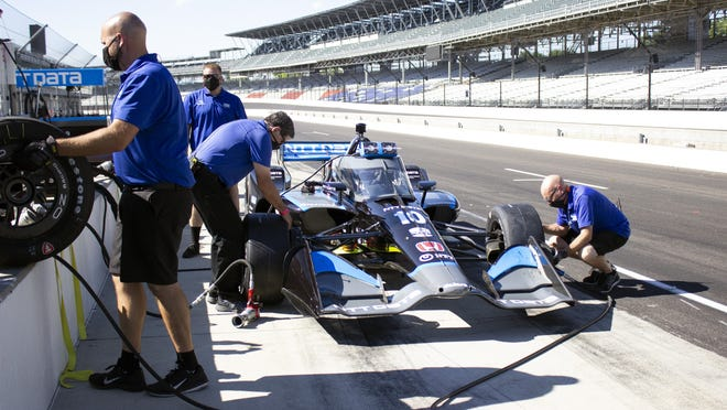 """Jimmie Johnson took a test drive with a Chip Ganassi Racing IndyCar this week in Indianapolis and said """"it only lit the fire more"""" for wanting to compete on the IndyCar circuit."""