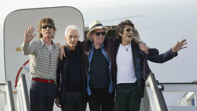 Members of The Rolling Stones -- from left, Mick Jagger, Charlie Watts, Keith Richards and Ron Wood -- said in a statement Sunday that their legal team is working to stop the reelection campaign of President Donald Trump from using their songs.