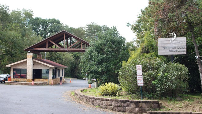 The gated entrance of the Chestnut Retreat Center, seen here in 2016, in Saylorsburg.